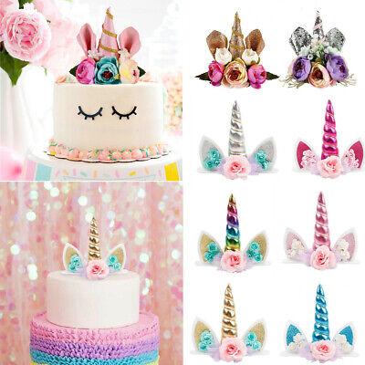 Terrific Unicorn Birthday Cake Topper Decor Baby Shower Ornaments Prop Funny Birthday Cards Online Eattedamsfinfo