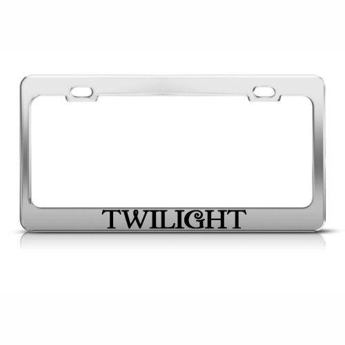 TWILIGHT Metal License Plate Frame Tag Holder