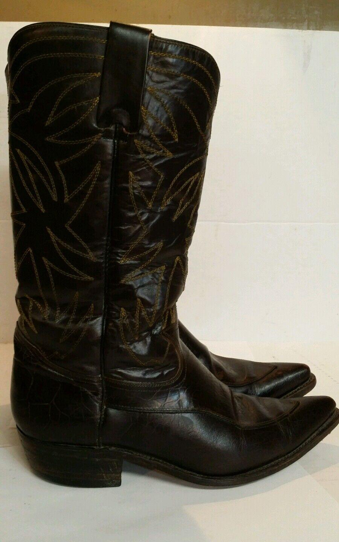 Cuero botas De Vaquero Negro Para Mujer  2 Hecho En México Vintage
