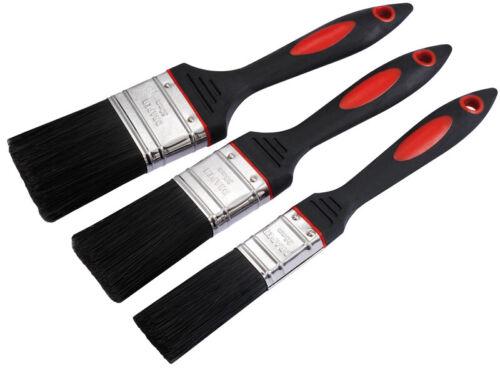 78628 3 pièces Genuine Draper Soft Grip Paint Brush Set