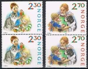 Noorwegen-postfris-1987-MNH-984-985-Kerstmis-Christmas