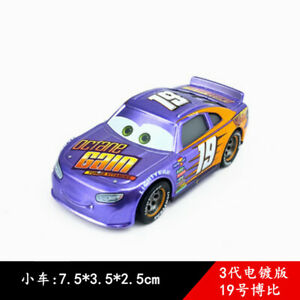 Cars 3 Toys Metallic 19 Bobby Swift Diecast Toy Car 1 55 Loose Kids Vehicle Ebay