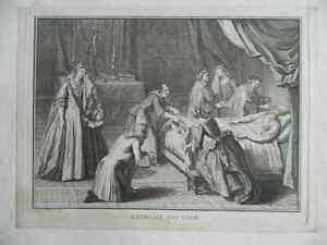 Incisione Extreme Unzione B.Picart [Bernard] 1724