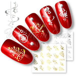 Nail-Water-Decals-Transfers-Stickers-Christmas-Xmas-Santa-Snowflakes-Selection