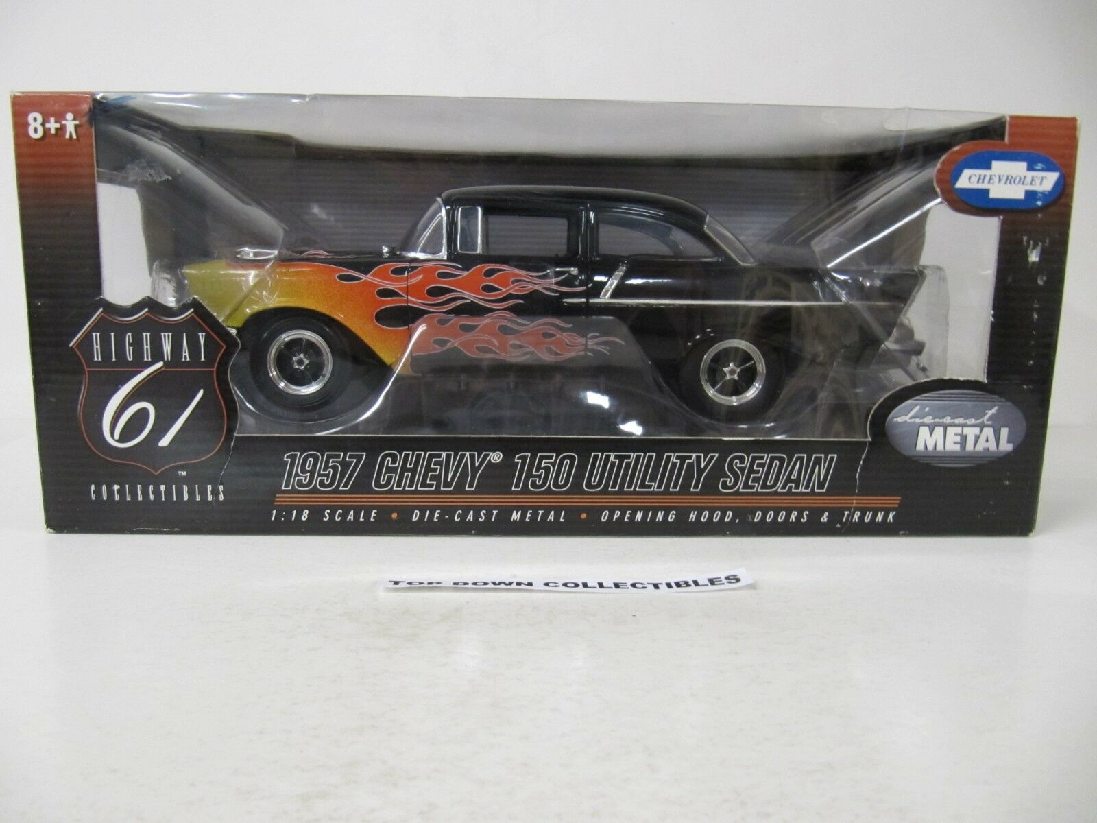 Highway 61 Collectibles 1:18 1957 Chevy 150 Utility Sedan SKU  50422  Nuovo In Box
