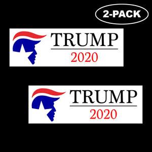 TRUMP-2020-Bumper-Sticker-Decal-Political-Republican-Vinyl-USA-MAGA-Logo-2-Pack