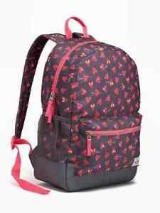 Nwt Old Navy Girls Backpack Set Lunchbox Lunch Box Hearts