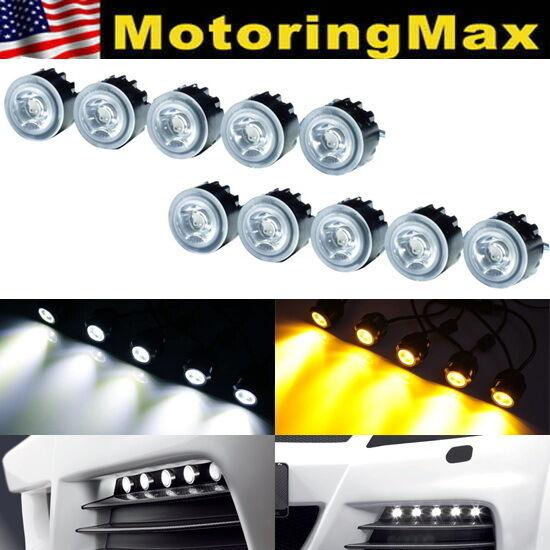Switchback High Power Flexible LED Daytime Running Lights, White + Amber Colors