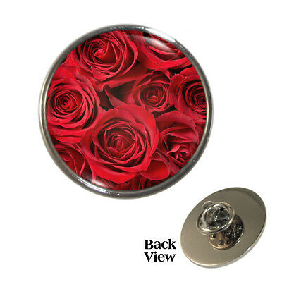 Rose 1 Inch 25mm Pin Button Badge Roses Flowers Thorns Red Nature Artistic Fun