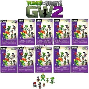 LOT-OF-10-Knex-Plants-Vs-Zombies-Series-4-Mystery-Buildable-Figures-NEW