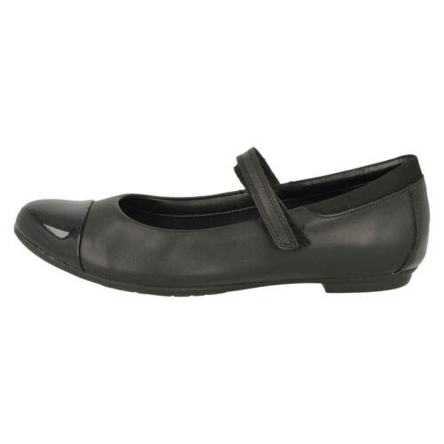 Piel De Hablar Mujer Clarks Negra Tizz Formales Escuela zapatos Niña HxqwdafH