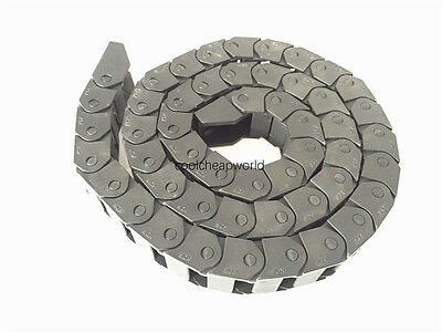 """1pcs Cable Drag Chain Wire Carrier 15*20mm 15mm x 20mm R28 1000mm 40"""" for CNC"""