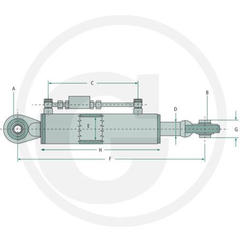 Hydraulischer Oberlenker Kat.1/_350-450/_Schlauchsatz/_Unimog/_Schlepper/_Traktor