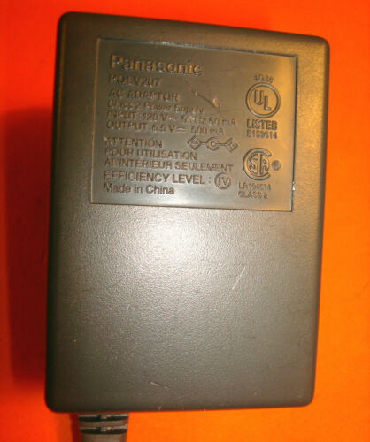 GREY TIP PQLV207 PANASONIC AC ADAPTER  6.5 V  500 mA FOR  PHONES A6.4