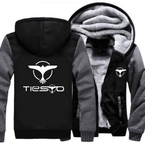 Unisex DJ Tiesto Zipper Jacket Sweatshirts Thicken Hoodie Casual Customized