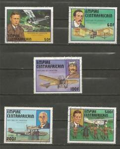 CENTRAL-AFRICAN-REPUBLIC-1977-History-of-Aviation-USED-SET