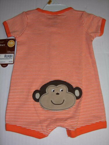 Carter/'s Infant Baby Boy/'s Creeper Romper Silly Monkey NB 3M 6M 9M $12 NWT