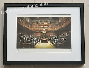 Banksy-Lithographie-Signed-Numbered-on-150-Certificat-Edition-CADRE-INCLUS