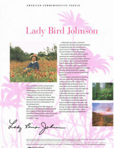 909-45c-Forever-Lady-Bird-Johnson-47-USPS-Commemorative-Stamp-Panel