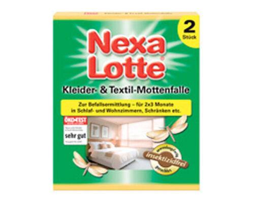 /& Textil-Mottenfalle 2 Stück Mottenfalle Motten Kleidermotte Nexa-Lotte Kleider