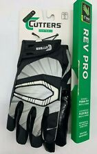 Cutters 017 Original C-Tack Receiver Black White Football Gloves Medium Small