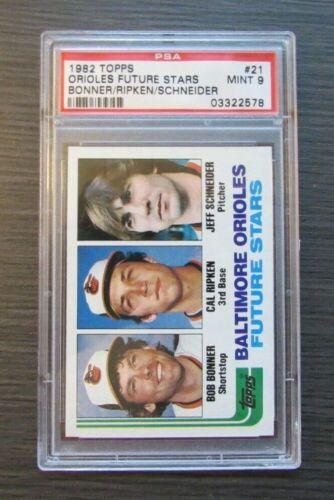 1982 TOPPS #21 CAL RIPKEN JR ROOKIE CARD 21 PSA 9 MINT Baltimore Orioles