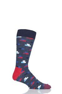 Hommes-et-Femmes-1-Paire-Happy-Socks-briques-coton-peigne-Chaussettes