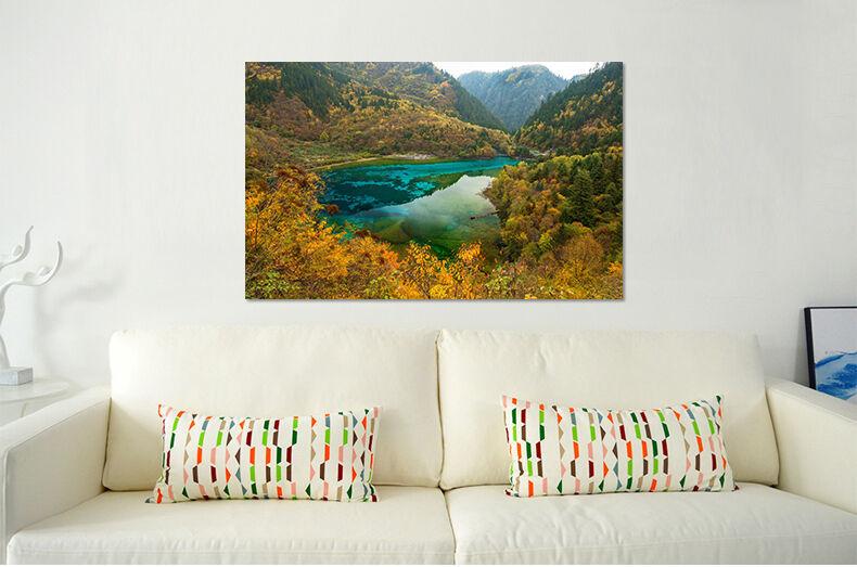 3D Herbst Dschungel Blau Meer 8 Fototapeten Wandbild BildTapete AJSTORE DE Lemon | Verrückter Preis  | Die Königin Der Qualität  | Verschiedene Stile und Stile
