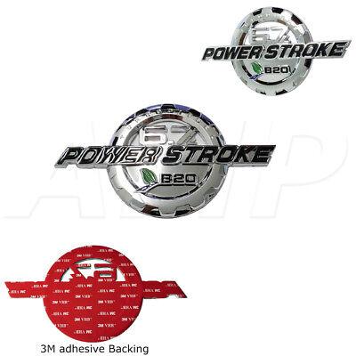 11-19 Ford 6.7 Powerstroke Turbo Diesel Door Emblem Chrome 1