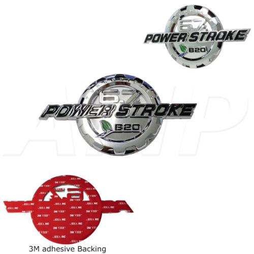 1 11-19 Ford 6.7 Powerstroke Turbo Diesel Door Emblem Chrome