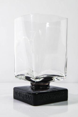 "Limitiertes Editionsglas Extra hohes Longdrinkglas /""Black/"" Disaronno Amaretto"