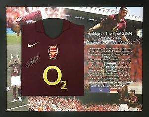 1964e14f6 Image is loading THIERRY-HENRY-FRAMED-SIGNED-ARSENAL-FOOTBALL-SHIRT-WITH-