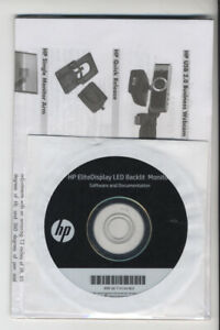 HP-EliteDisplay-LED-Backlit-Monitor-Software-and-Documentation-disc-SEALED