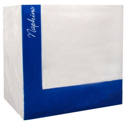2000 Combinaison Blanc Serviettes//Serviettes restaurant 2 brins 33 cm x 33 cm