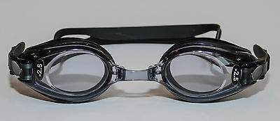 Prescription Swimming Goggles Adult Black Minus & Plus Powers UV Protection