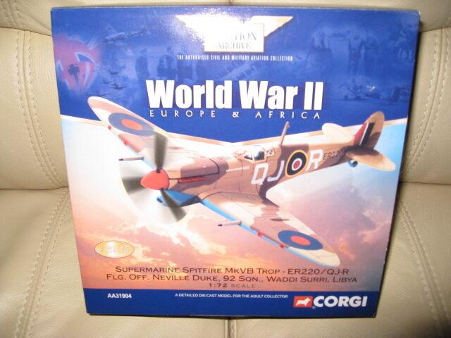 Corgi-Supermarine Spitfire MkVb Trop-ER220 QJ-R  NEVILLE DUKE  L' ESCADRON 92.
