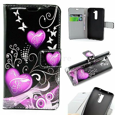 Leather Pouch Flip Card Wallet Slots Phone Silicone Case Cover For LG Optimus G2