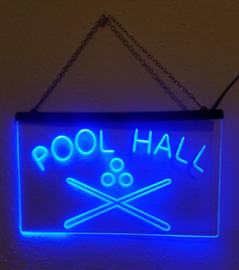 Pool Hall LED Sign Billiards Snooker Bar Light