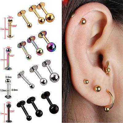 5x Tragus Helix Bar - Cartilage Top Upper Ear Earring Labret Star Heart Newly NE