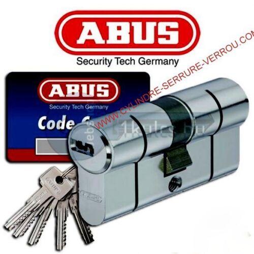 5 clés micropoints barillet haute sûreté ABUS D6PS 45x45 pré-cassé cylindre