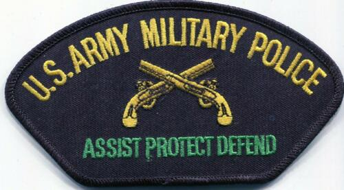 US Army Military Police Assist Protect Defend  EMBROIDERY Sew//Iron On Patch