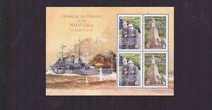 2008-Discovery-of-HMAS-Sydney-sunk-by-Germans-mini-stamp-sheet-Australia-M-259