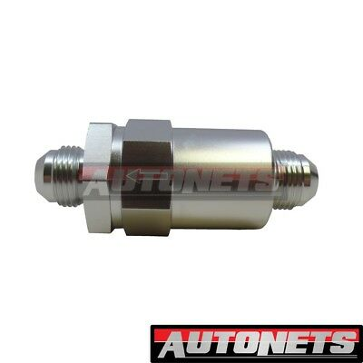 3//8 in line Fuel Filter See Through Pro Series Hot Rod Clear Glass Sbc Bbc