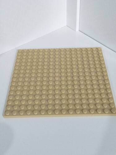1x Genuine Lego Tan Base Plate 16x16 plates display base build on baseplate BN