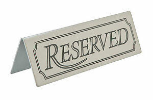Stainless Steel Reserved Sign Table Signs Table Top Bar Restaurant - Restaurant table signs