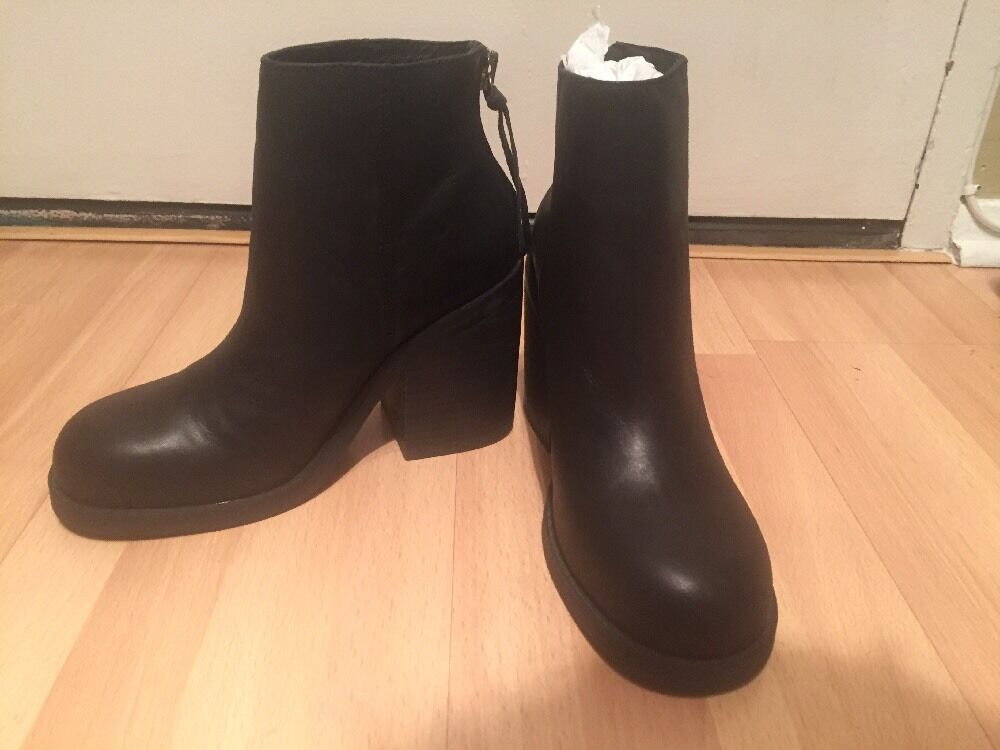WINDSOR SMITH MITEY WOMENS BLACK LEATHER ANKLE BOOTS 9 9 9 NEW dc15c0