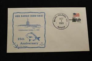Naval-Housse-1983-Main-Cancel-25TH-Anniv-Mise-en-Service-Uss-Sargo-SSN-583