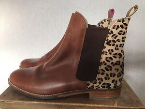 joules chelsea boots leopard