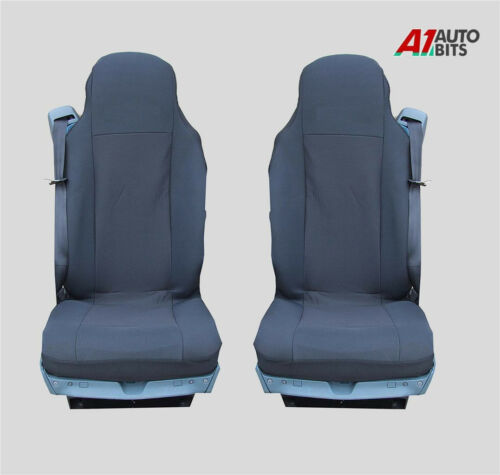 BLACK PREMIUM LUX SEAT COVERS TAILORED FOR SCANIA 4 series 114 124 144 164 94
