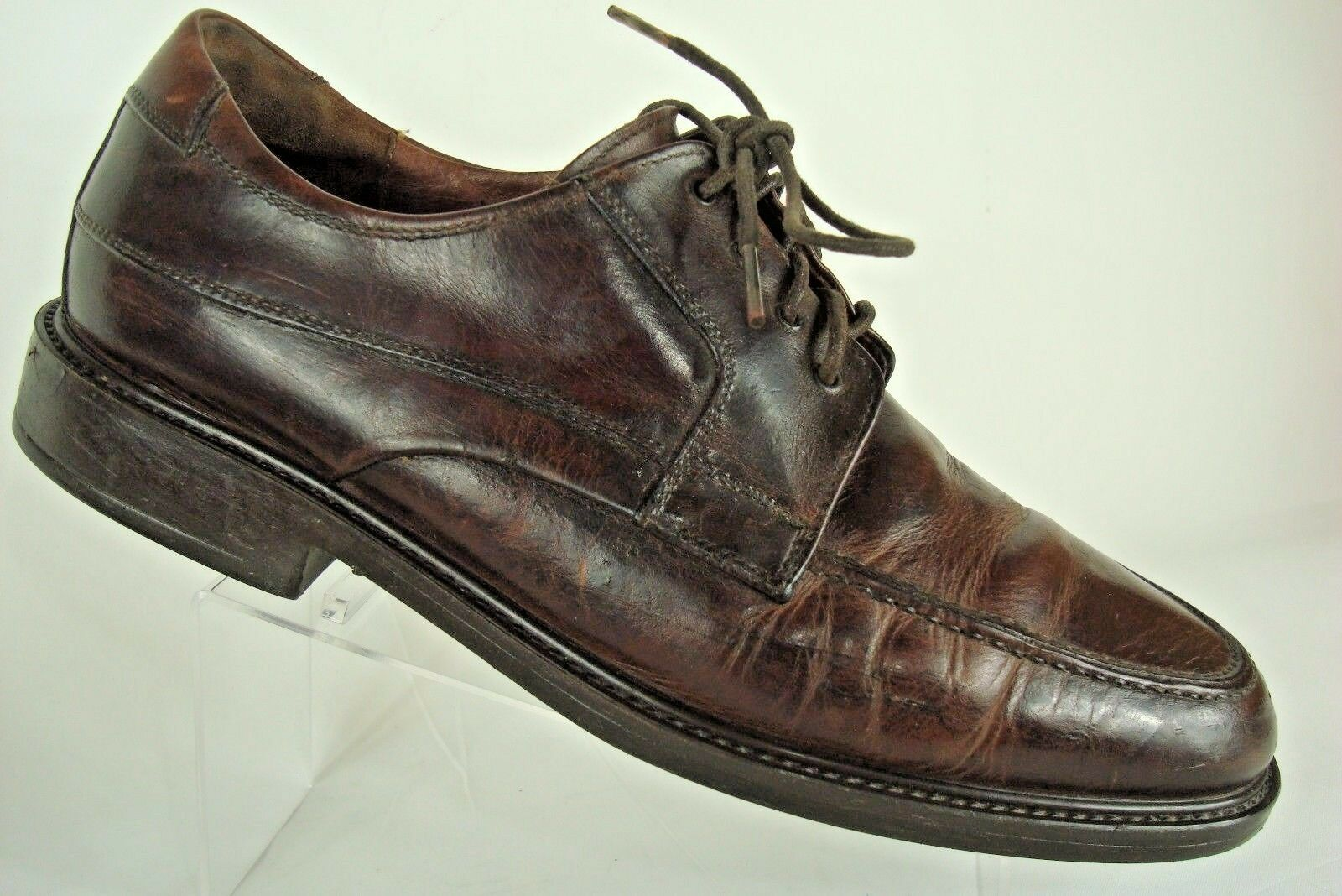 JOHNSTON & MURPHY Natural Brown MOC TOE LACE OXFORD Walking Comfort  SZ 10.5